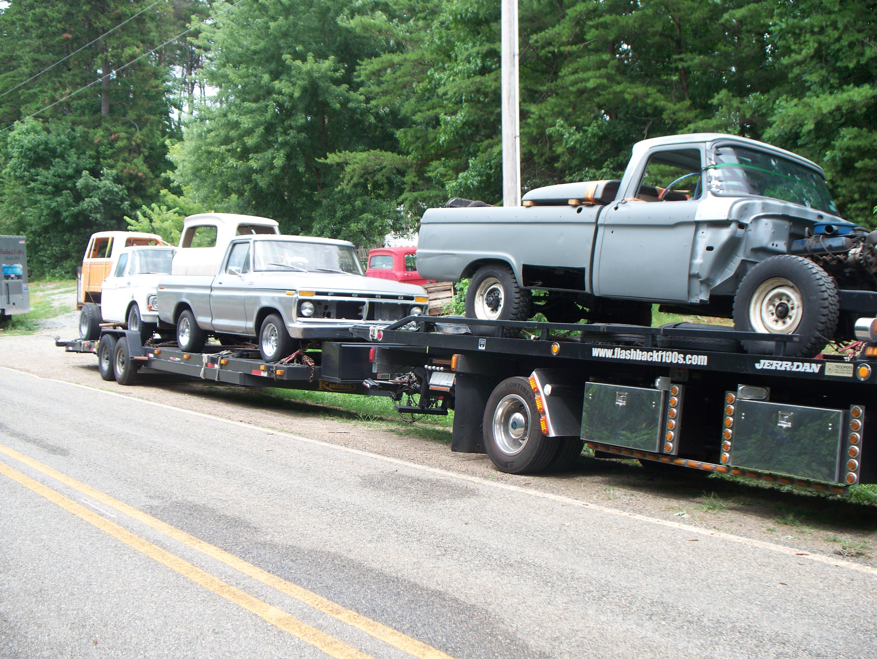 66 F-250, 77 F-150 and 63 F-100 withseveral rust free cabs